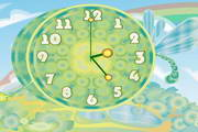 Dragon-fly Clock ScreenSaver