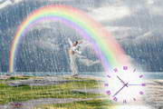 Summer Rain Clock ScreenSaver