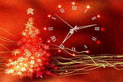 Gold Glow Christmas Clock ScreenSaver