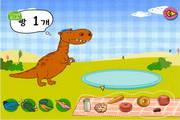 小宝为恐龙找食...