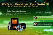 4Videosoft DVD to Creative Zen Suite