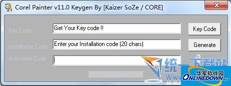 Corel Painter 11注册机(序列号)