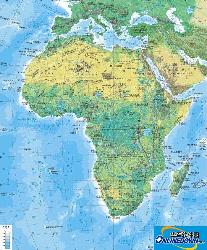 非洲地图高清版大图