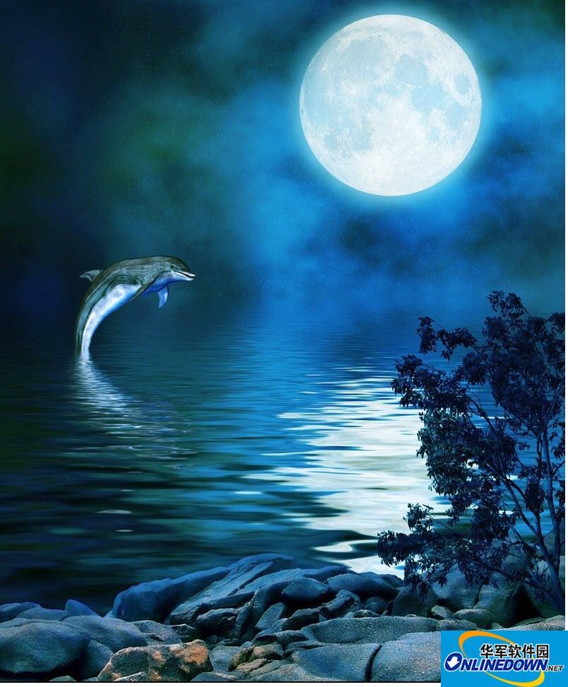 正月十五的月亮高清图片素材
