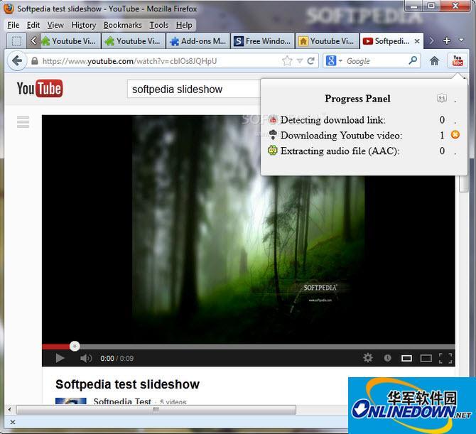 火狐youtube视频下载扩展(Youtube Video and Audio Downloader)