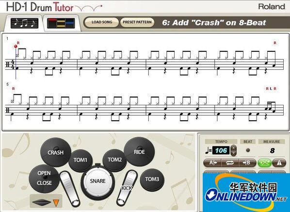 电子鼓教学软件(HD-1 Drum Tutor)