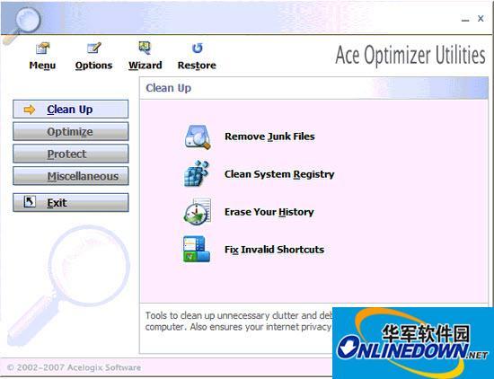 Ace Utilities清理系统垃圾工具