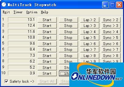 多轨秒表(MultiTrack Stopwatch)