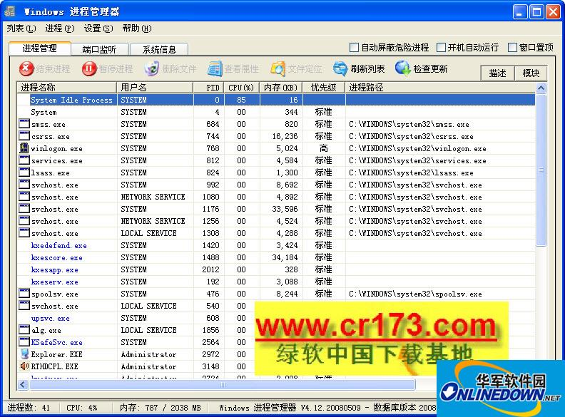 Windows进程管理器