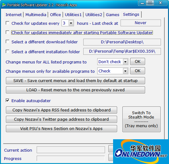 Portable Software Updater