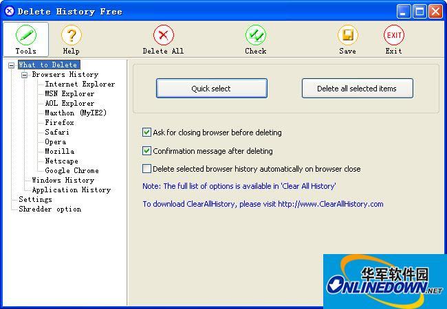 删除历史记录Delete History Free