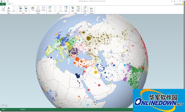 微软3D数据可视化插件for Excel 2013(GeoFlow)