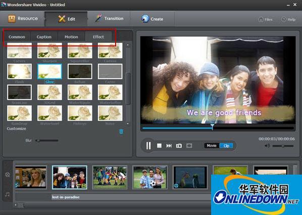 视频编辑软件Wondershare Vivideo