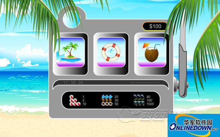 沙滩游戏屏保(nfsGamingMachine)