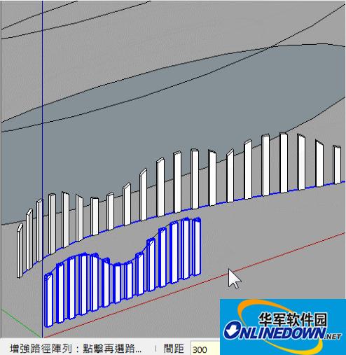 sketchup增强路径阵列