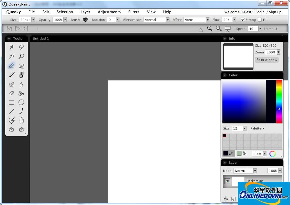 可录像绘图软件 QueekyPaint