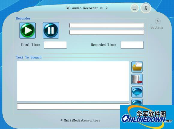MC Audio Recorder音频录制工具