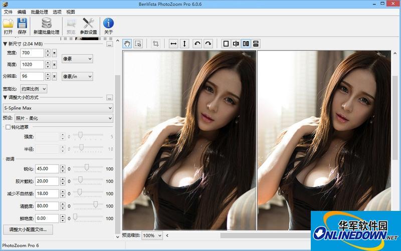 PhotoZoom Pro照片无损放大