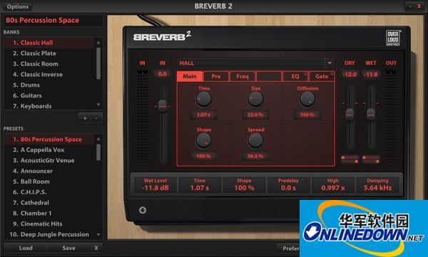 混响效果器(Overloud BREVERB 2)