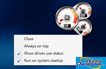 处理器使用率仪表盘 Windows 8 CPU Meter
