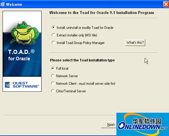 toad for oracle 11