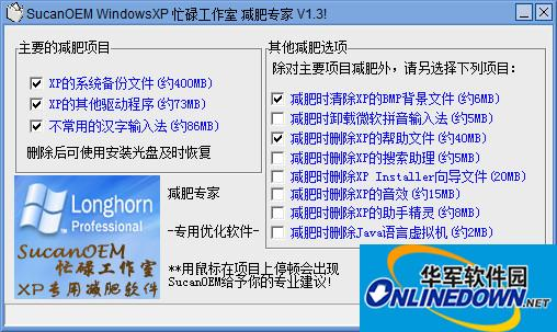 Windows XP减肥专家