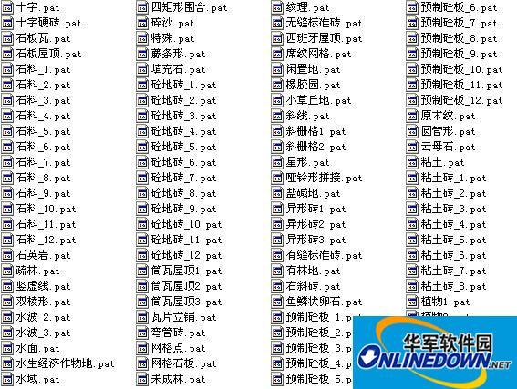 AutoCAD填充图案大全(835款)