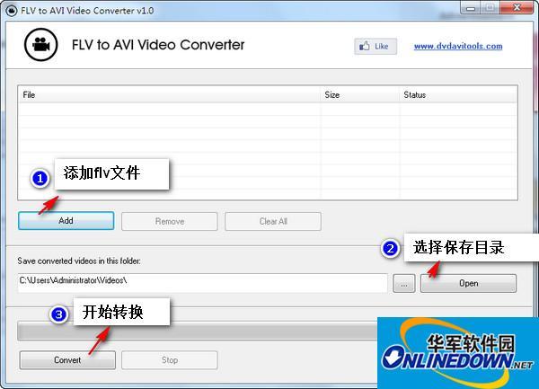 flv转avi格式转换器(FLV to AVI Video Converter) v1.0免
