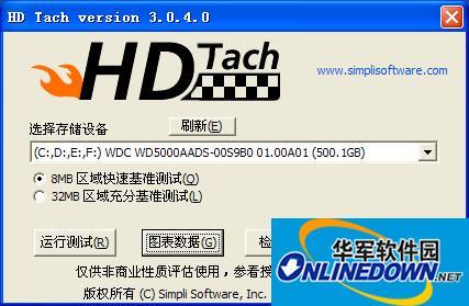 HD Tach硬盘性能...