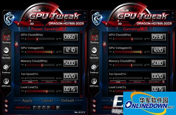 华硕显卡超频软件(ASUS GPU Tweak)