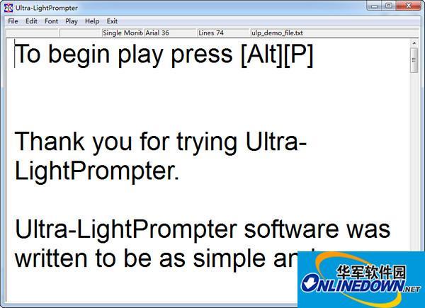 提词器软件(Ultra-LightPrompter) v1.3.2免费版
