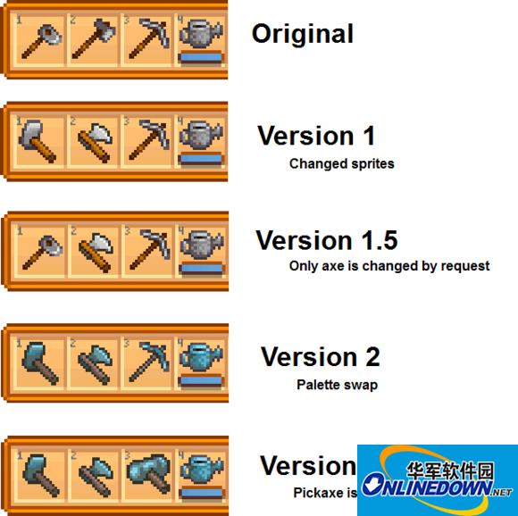 星露谷物语工具图标替换mod PC版