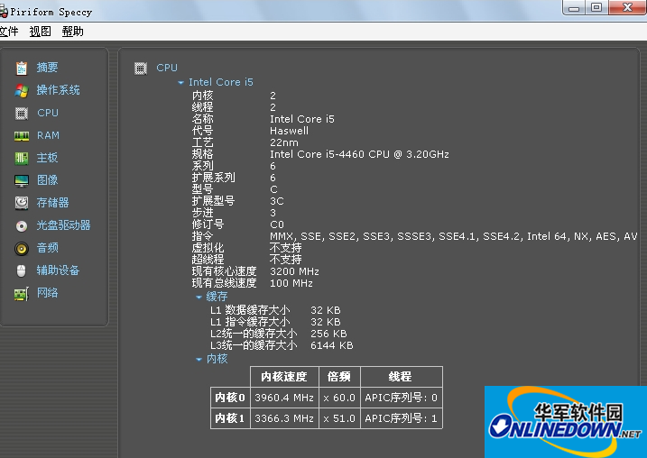 Piriform Speccy32-64位版(电脑配置检测软件)