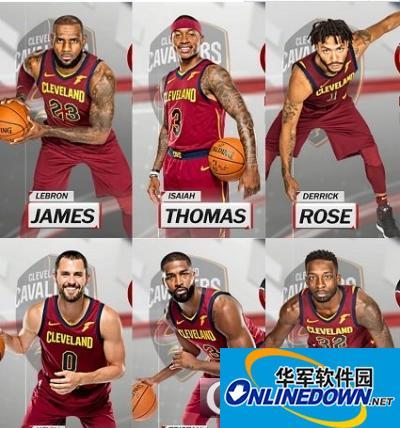 NBA2K18骑士全队球员高清照片补丁