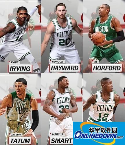 NBA2K18凯尔特人全队球员高清照片补丁