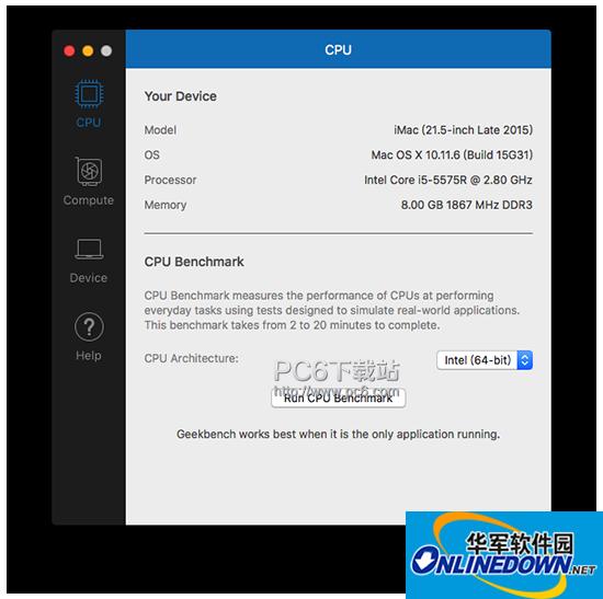 Geekbench 4 Mac版
