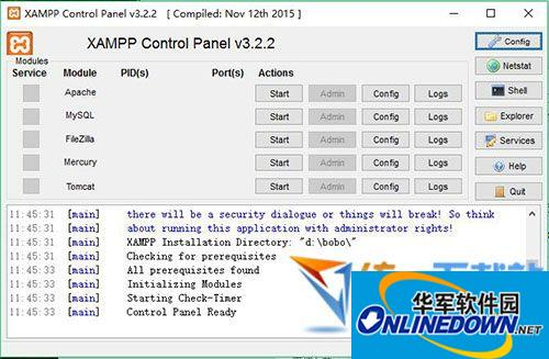 xampp(配置安装php)