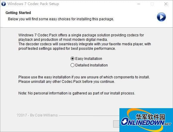Windows7 Codec Pack