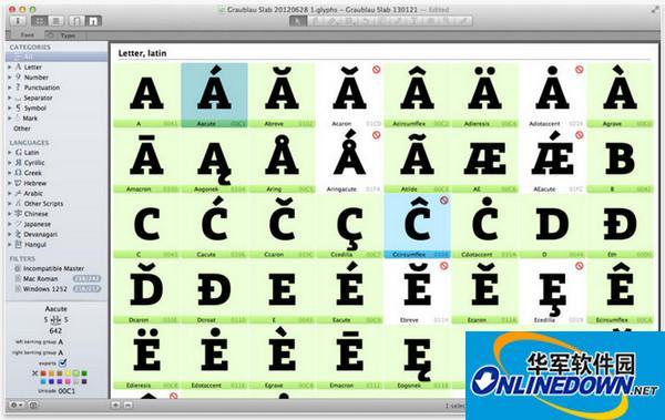 Glyphs Mac版