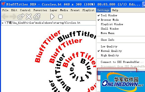 BluffTitler DX9