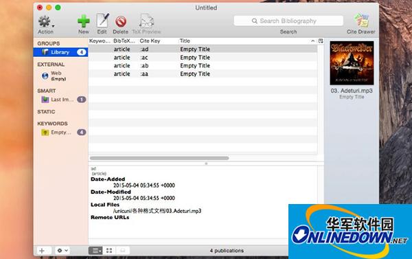 BibDesk Mac版