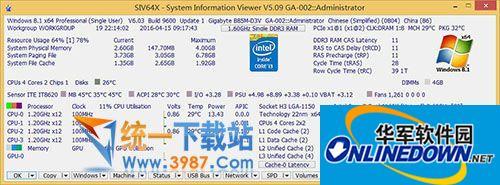 主板电压温度测试(SIV)