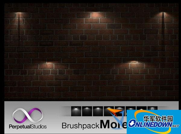 PS灯光照射光影效果笔刷 免费版