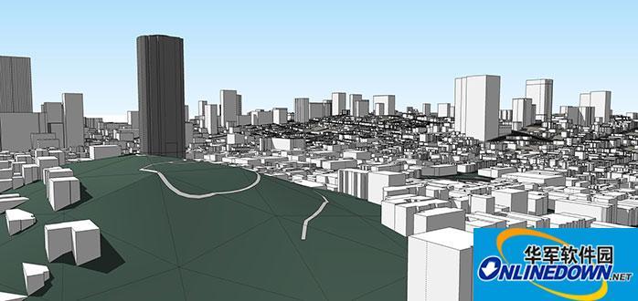 sketchup自动生成三维城市插件placemaker