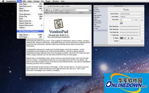 VoodooPad Mac版