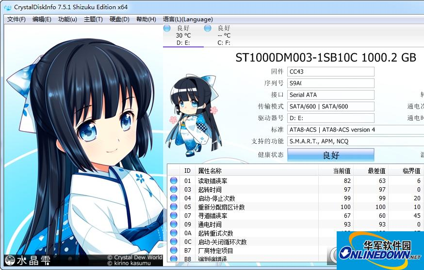 CrystalDiskInfo Shizuku
