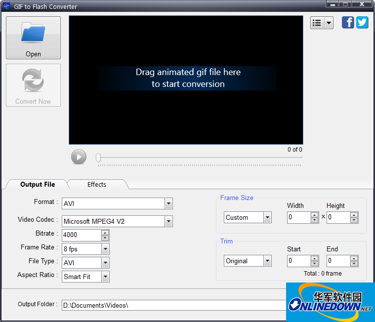 gif转视频软件GIF To Flash Converter