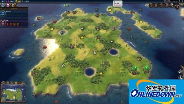 文明6上古卷轴泰姆瑞尔大陆地图MOD