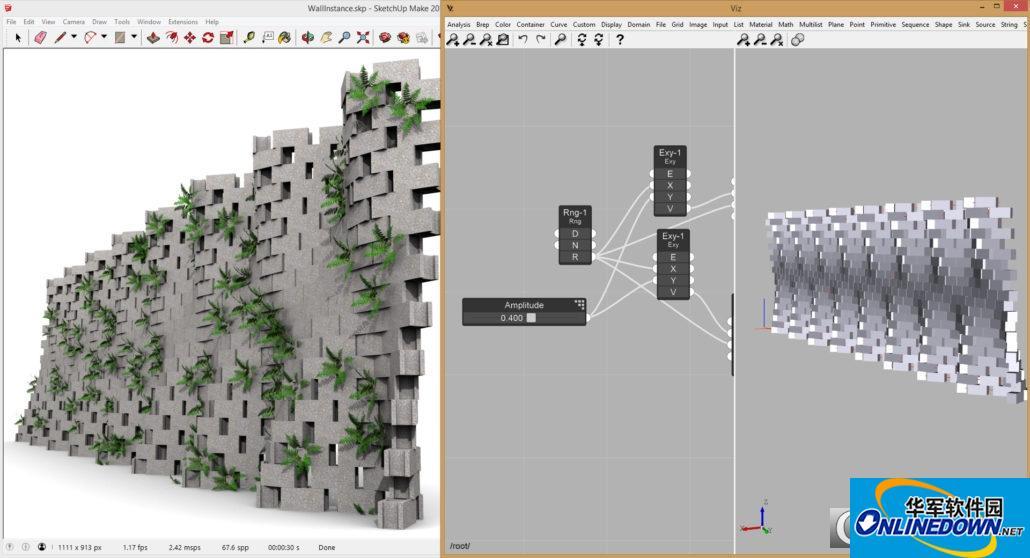 sketchup可视化参数建模插件viz pro