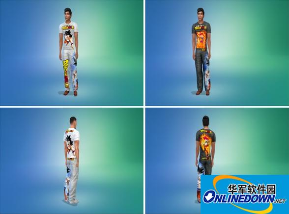 模拟人生4龙珠痛衫套装整合包MOD